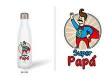 Botella Termo 500 ml Blanca 'Super papá' (YP-012)